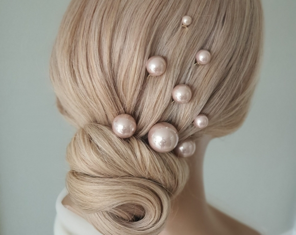 Classic chignon style brought up to date for today's modern bride