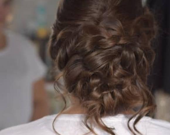 Bridal hair soft updo Essex