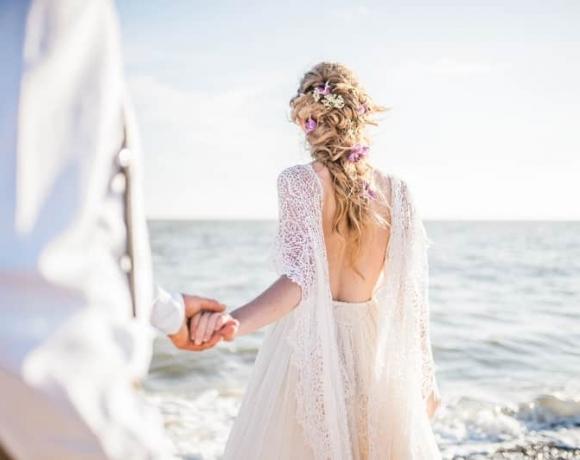 Dreamy beach location wedding