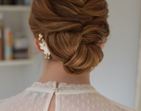 Textured-bridal-updo-for-short-hair